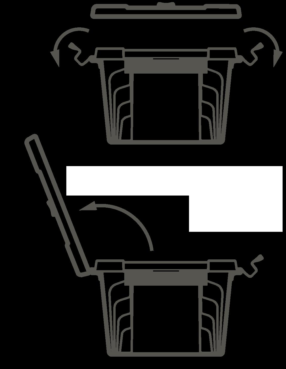 Схема открывания ящика